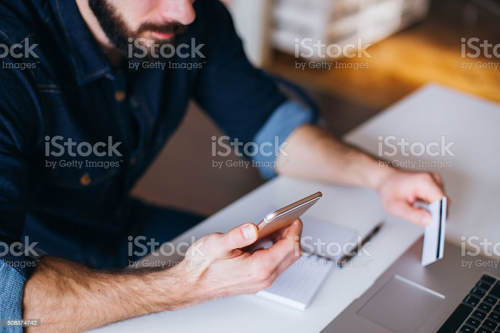 Net banking! stock photo