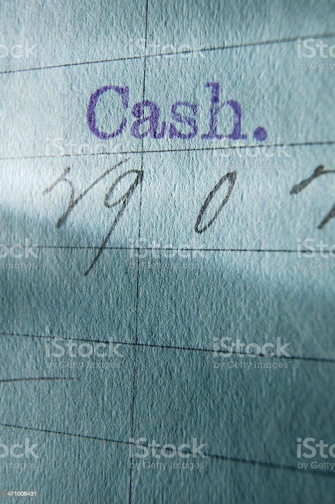 Net Cash 4 royalty-free stock photo