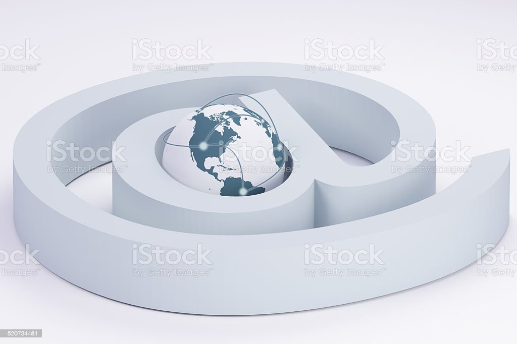 Net dependent world royalty-free stock photo