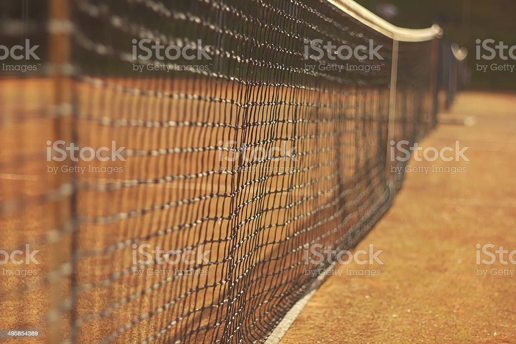Net for tennis stock photo