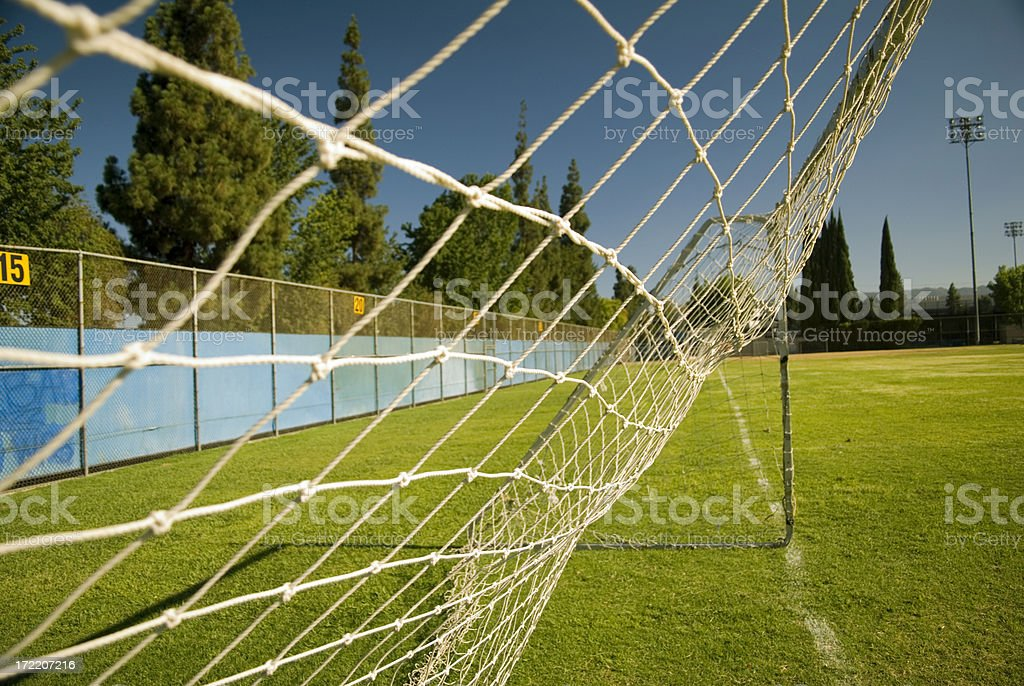 Net goal stock photo