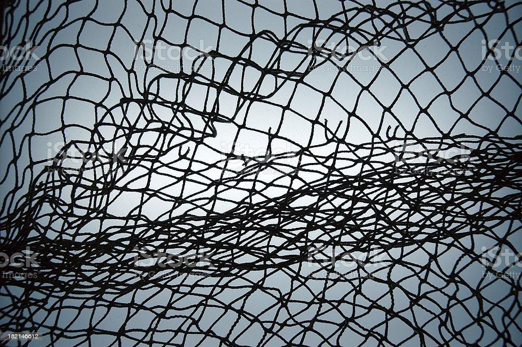 Net in Blue stock photo