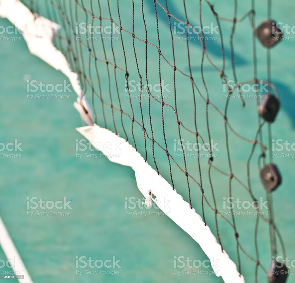 net in rattan court stock photo