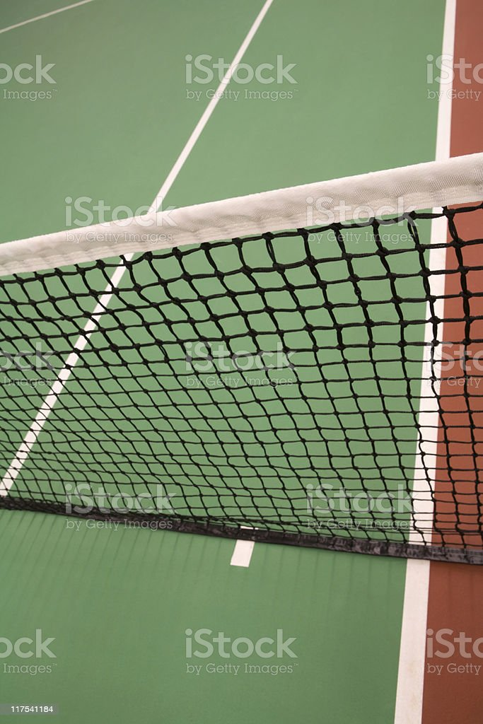 net of an indoor tennis court royalty-free stock photo