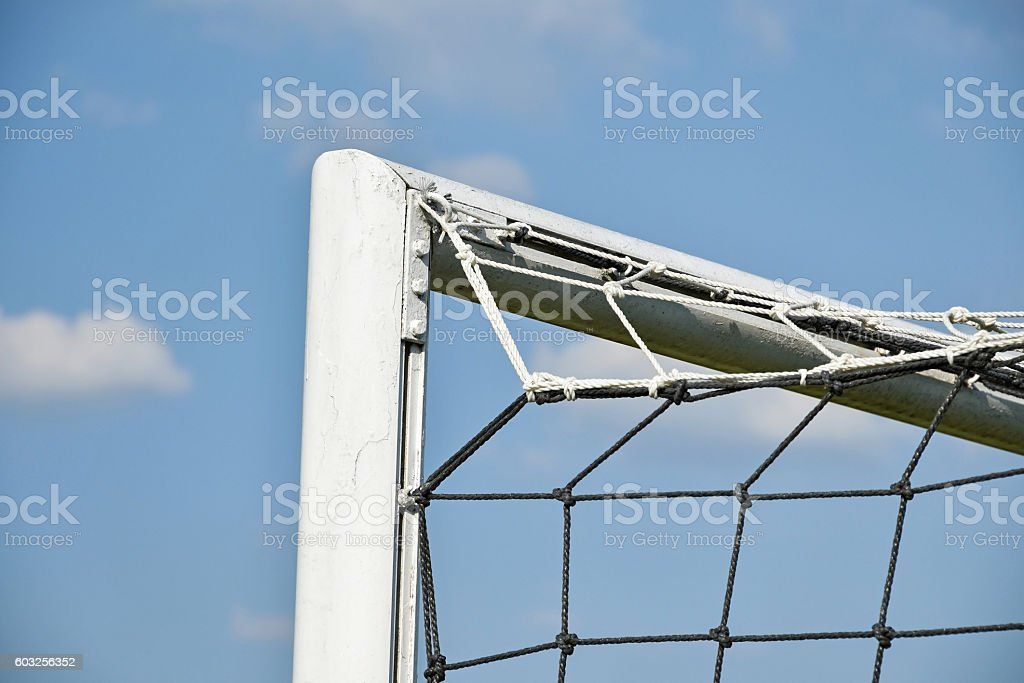 Net of the soccer goal stock photo