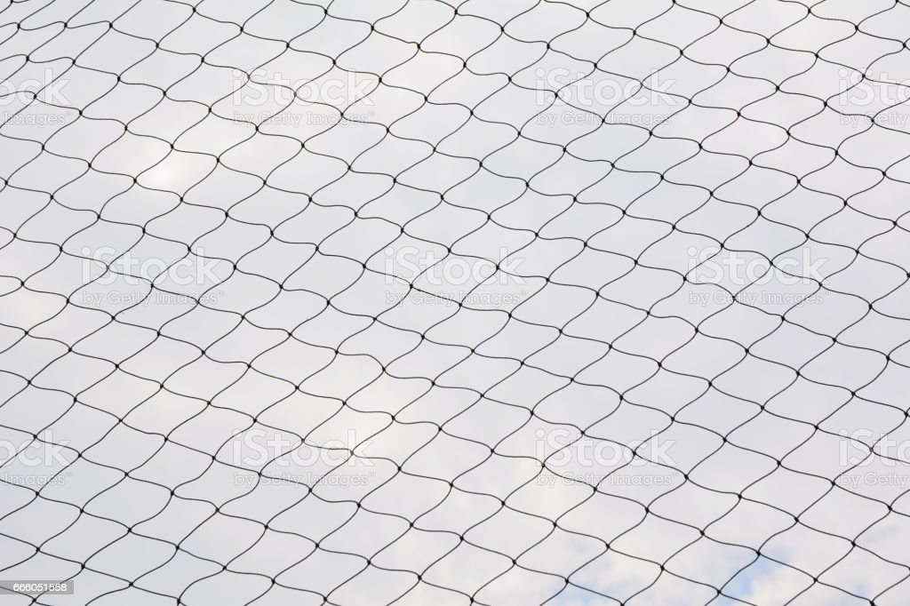 Net pattern. Rope net silhouette. Soccer and football net pattern. stock photo