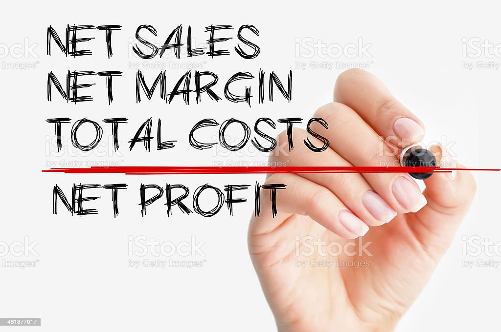 Net profit concept stock photo