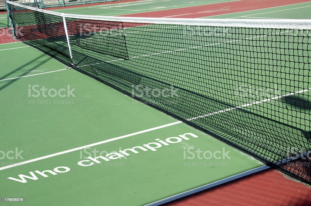 Net Tennis. royalty-free stock photo