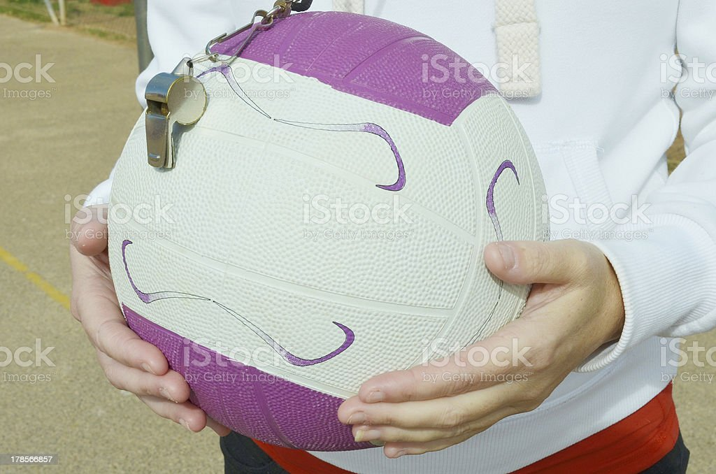 Netball and Whistle royalty-free stock photo