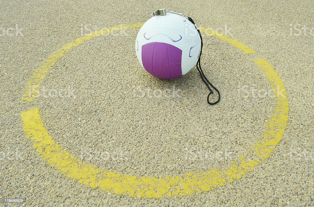 Netball Centre Circle royalty-free stock photo