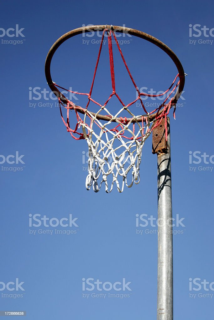 Netball Hoop royalty-free stock photo