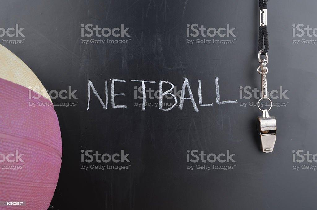 Netball Message stock photo