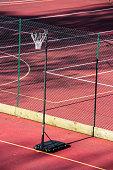 Netball Net in an Empty Sports Complex