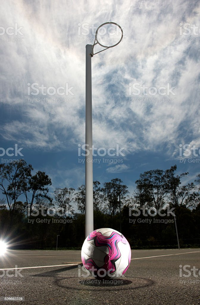 Netball on the court. stock photo