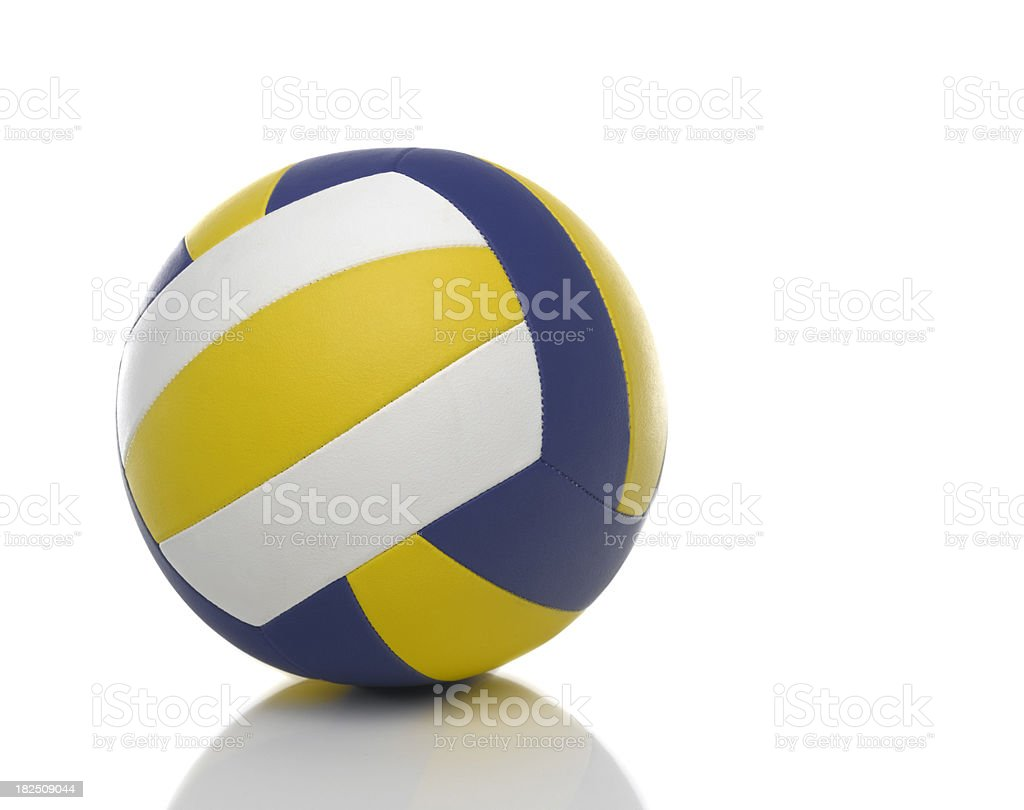 netball, volleyball with reflection stock photo