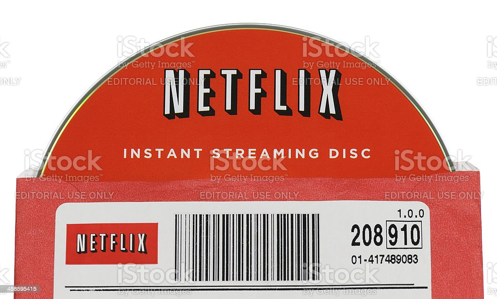 Netflix Disc in Sleeve stock photo