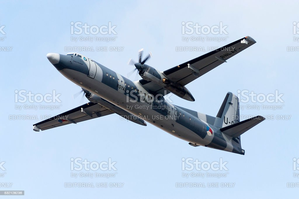 Netherlands Air force utility and transport aircraft stock photo