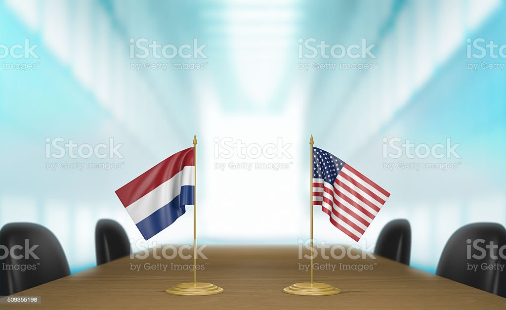 Netherlands and United States relations and trade deal talks stock photo