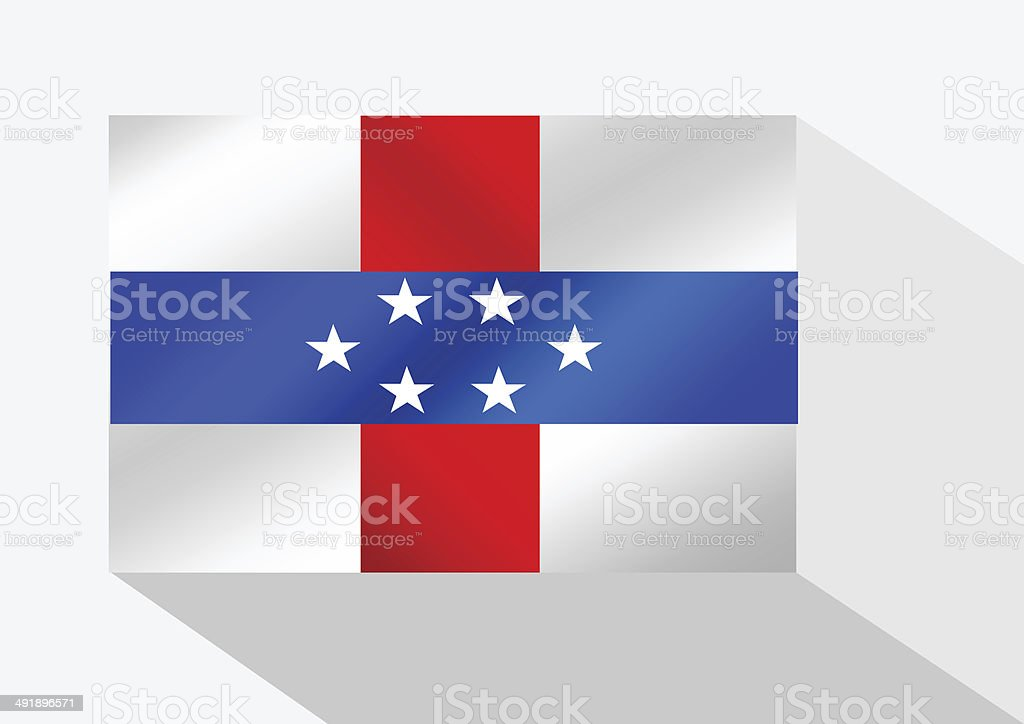 Netherlands Antilles flag themes idea design stock photo