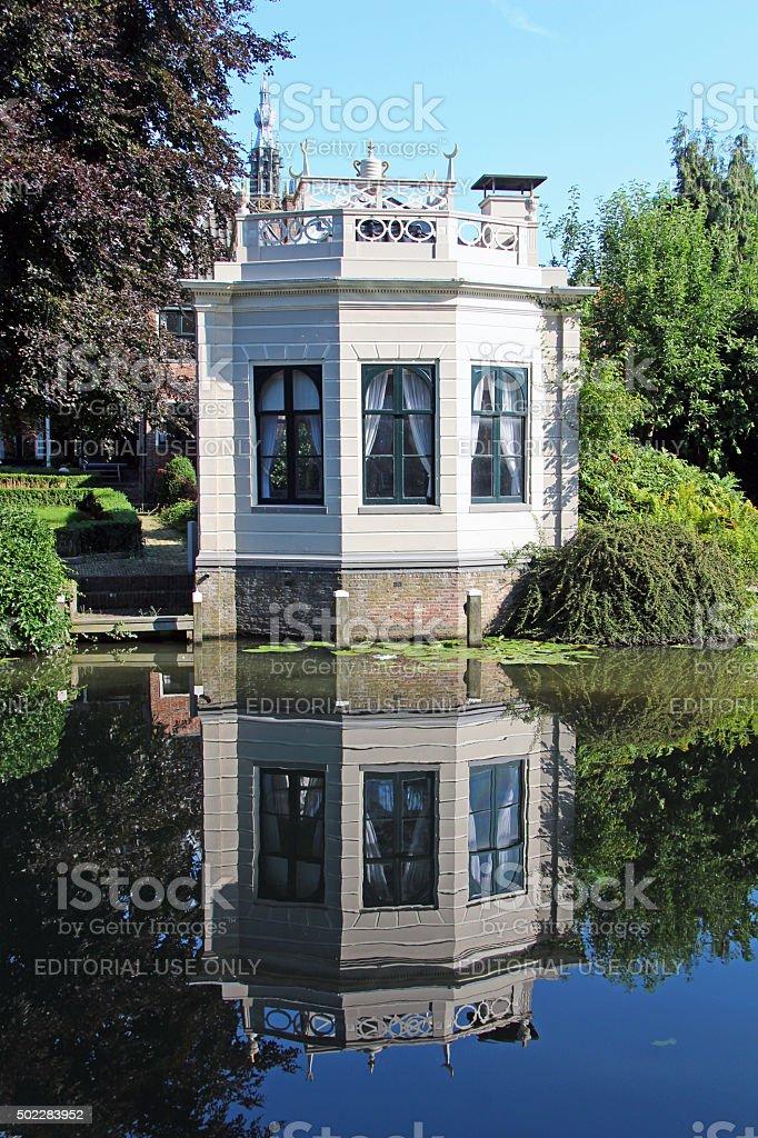 Netherlands: Canals of Edam stock photo