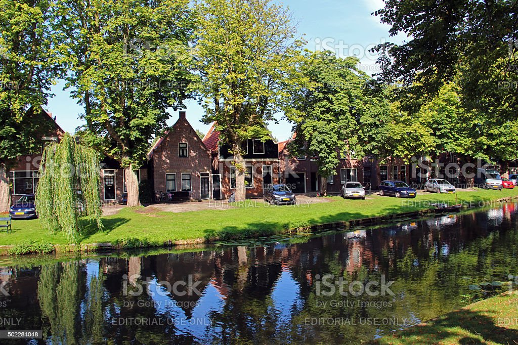 Netherlands: Canals of Edam stock photo