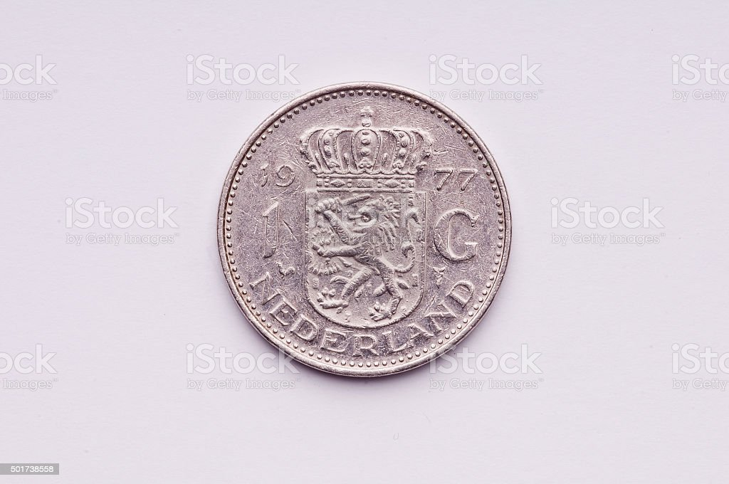 Netherlands coin stock photo