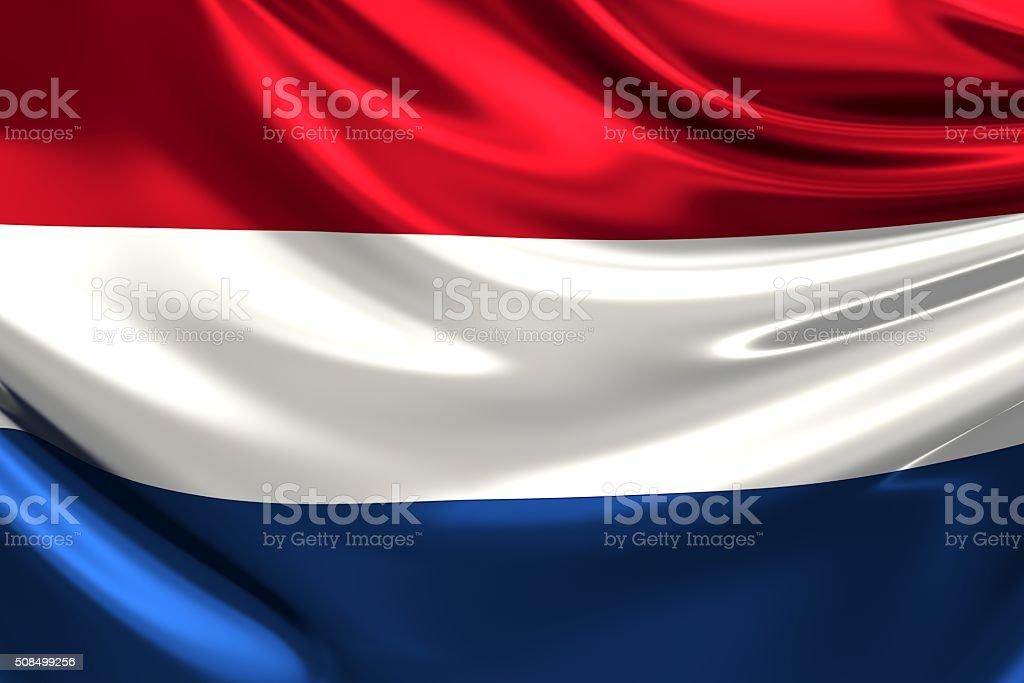 Netherlands Flag. 3d illustration stock photo