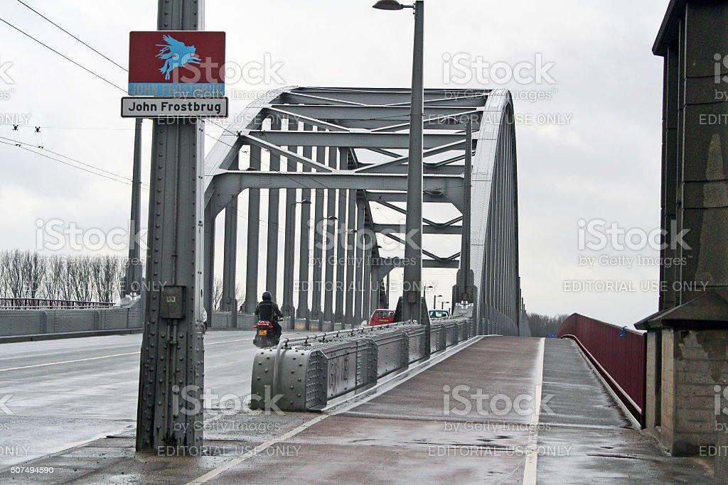 Netherlands: John Frost Bridge (John Frostbrug) in Arnhem stock photo
