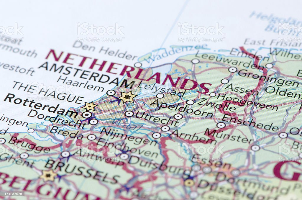 Netherlands map stock photo