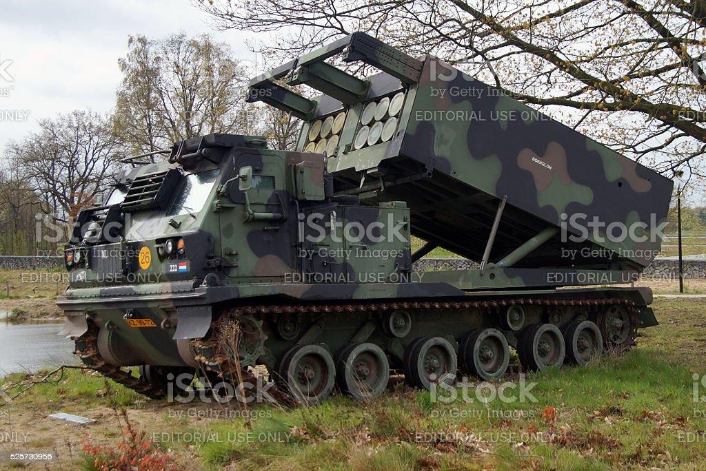 Netherlands military Multiple Launch Rocket System (MLRS) stock photo