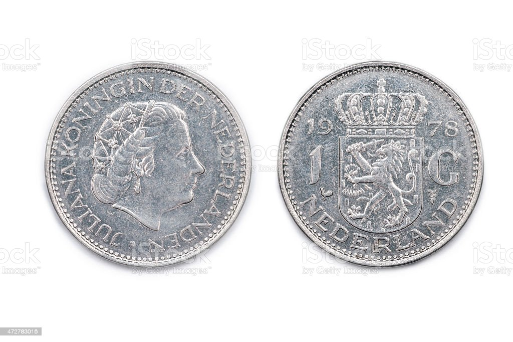Netherlands one Guilder coin dated 1978 stock photo
