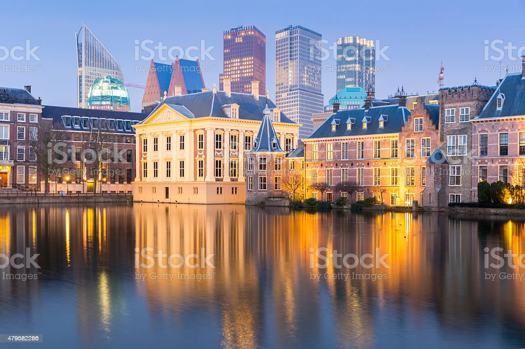 Netherlands Parliament Hague stock photo