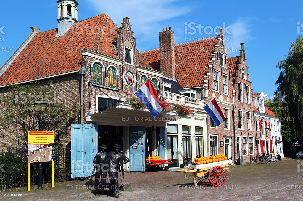 Netherlands: Town of Edam stock photo