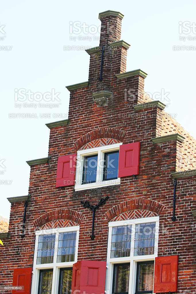 Netherlands: Traditional Architecture in Edam stock photo