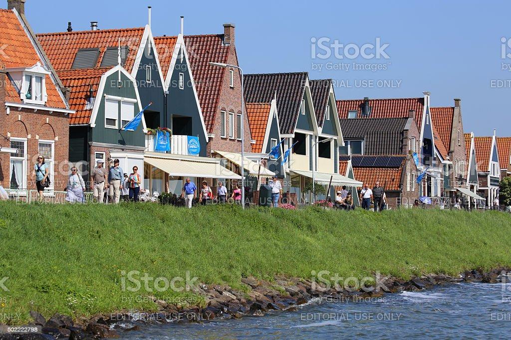Netherlands: Waterfront at Volendam stock photo