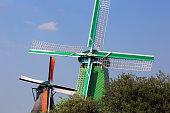 Netherlands: Windmill at Zaanse Schans