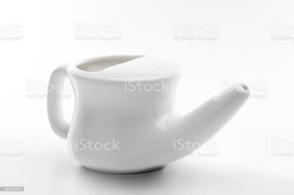 Neti Pot with Clipping Path stock photo