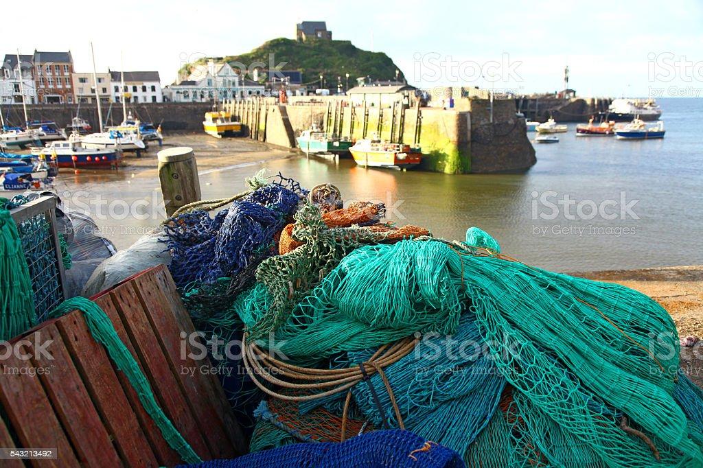 Nets at Ilfracombe stock photo