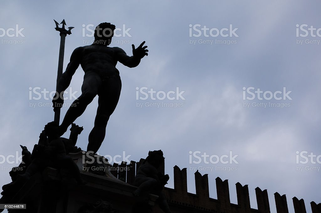 Nettuno, Bologna stock photo