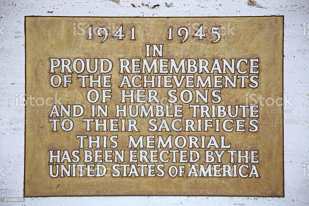 Nettuno, Italia: American Military Cemetery stock photo