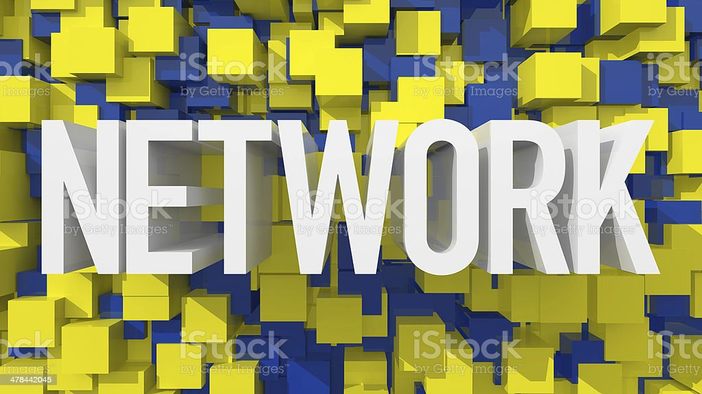 Network 3D Background royalty-free stock vector art