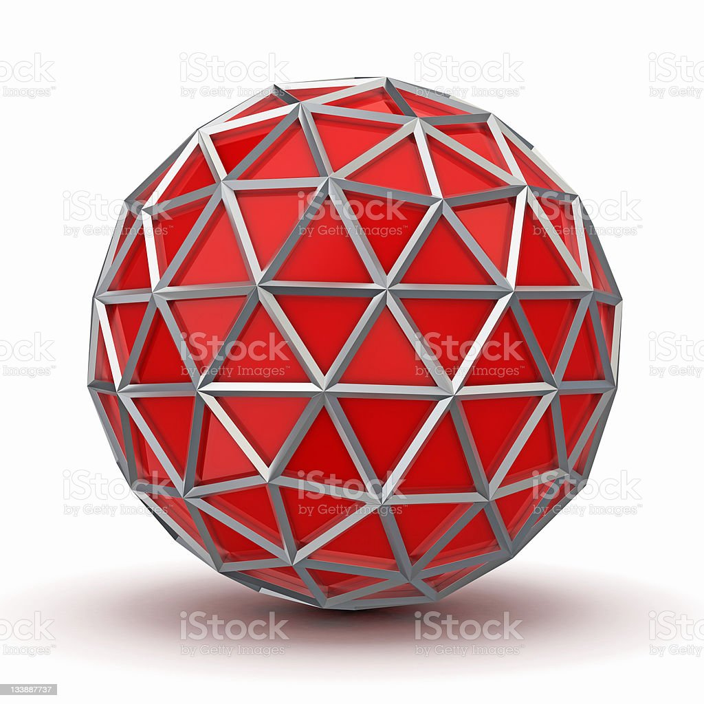 Network abstract 3D concept stock photo