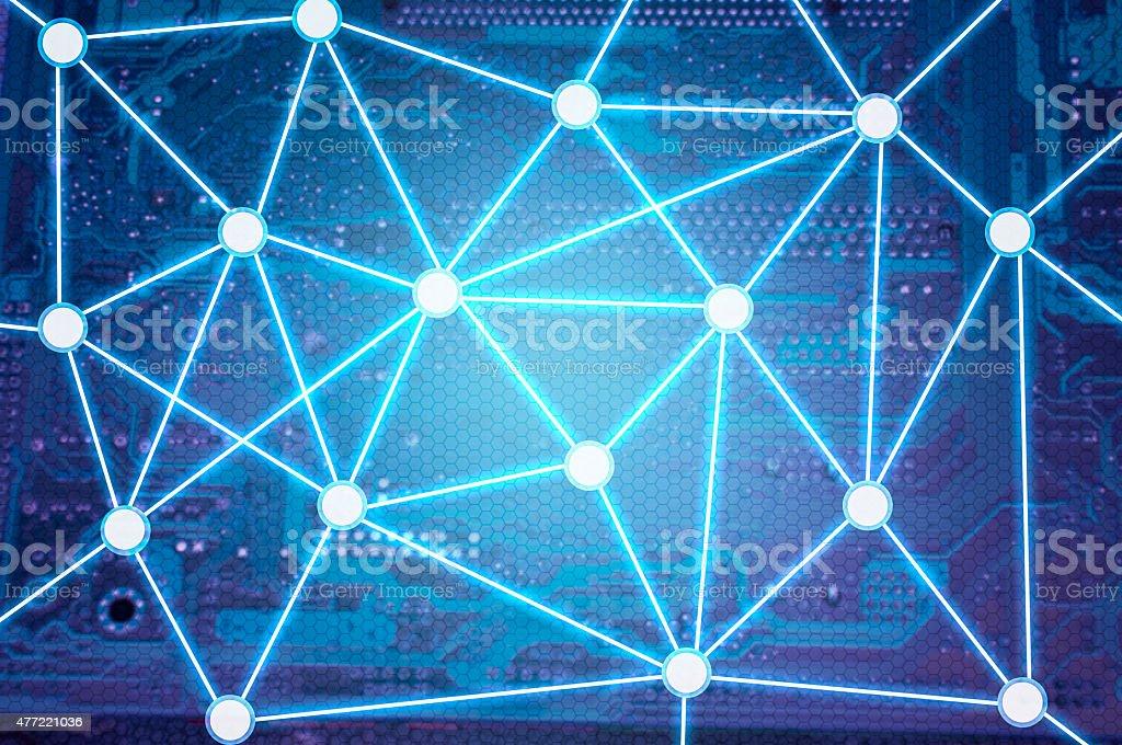 Network and Communication Line Framework stock photo
