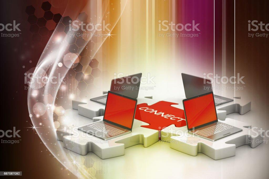 Network and internet communication stock photo