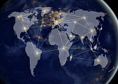 network and world map,networking concept