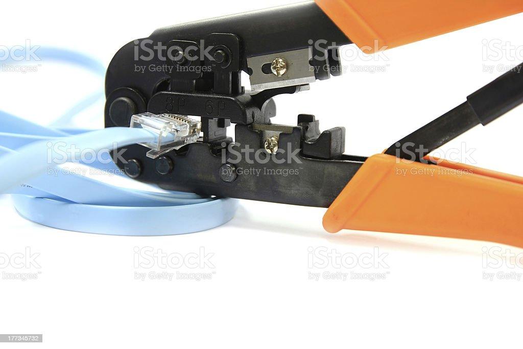 RJ11/RJ45 Network Cable Crimper Plier Tools stock photo