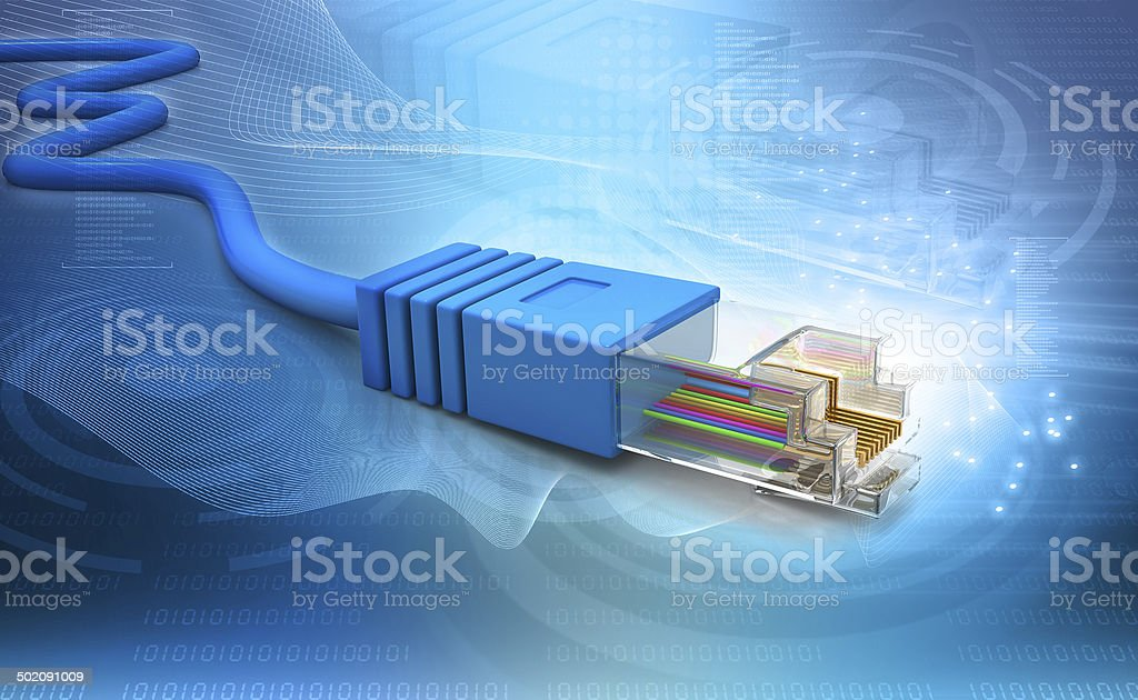 Network cable tech  background stock photo