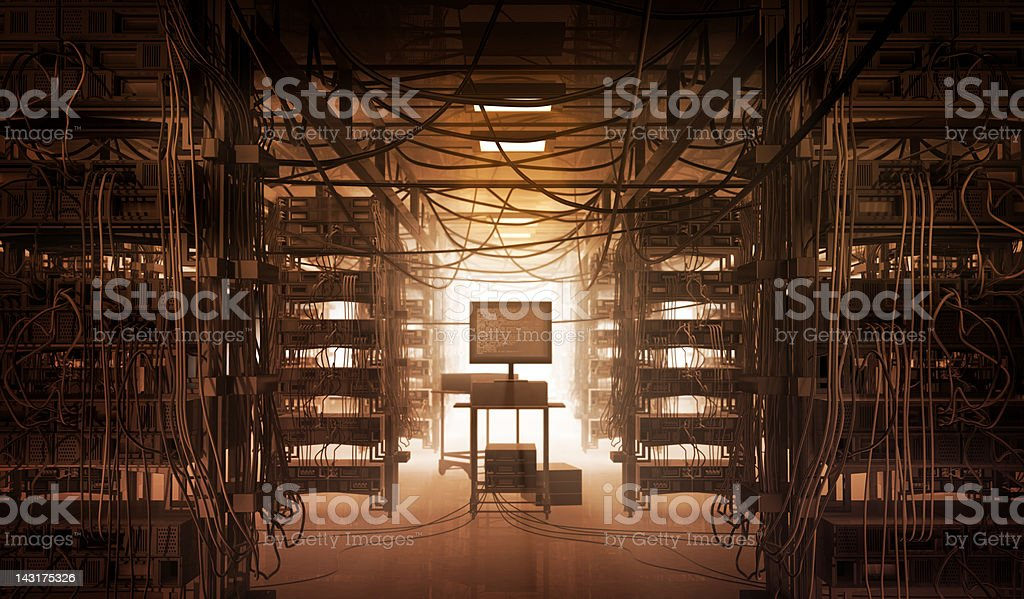 Network, Cables & Chaos stock photo