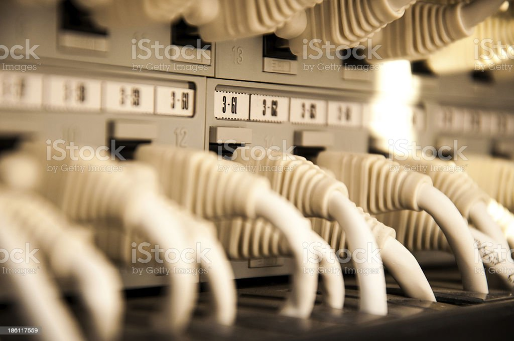 Network cables in data center royalty-free stock photo