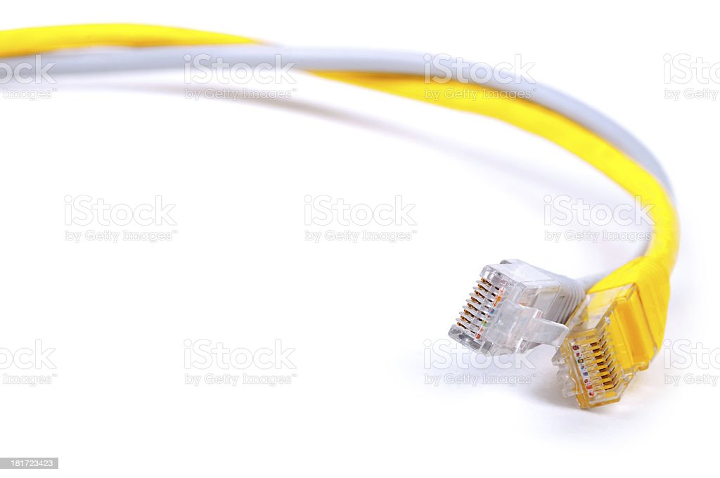 LAN network cables royalty-free stock photo